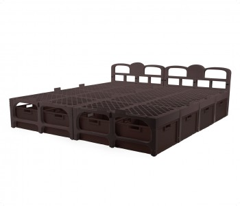 Samba Double Bed (With Drawers